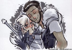 DA2 - Fenris and Hawke by aimo