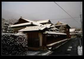 Japanese house in snow 2 by stevezpj