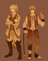 Hetalia | Steampunk England and France by Lazorite