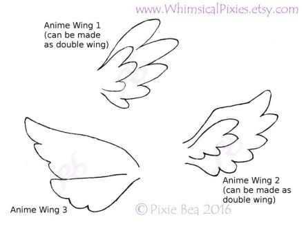 Anime Wings by WhimsicalPixies