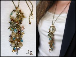 Treasures of the fall pendant by JSjewelry