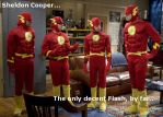 Sheldon As The Flash by DrSheldonCooperPhD