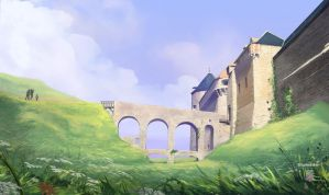 Dieppe Castle by StyloideIllustration