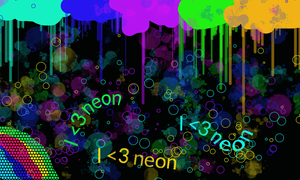Neon madness by Kittenlover2016abc