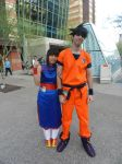 Phoenix Comicon 2015 Goku and Chichi by Demon-Lord-Cosplay