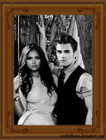 Elena and Stefan by scarletthorse