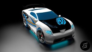 AcceleRacers Power Rage Front by Xceptre