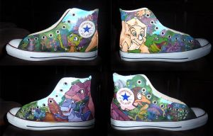 Land Before Time Shoes by Neonwolfie