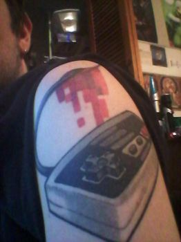 NES Controller Tattoo by ZombieT-Bag