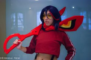 Matoi Ryuko (tracking suit) by FlorBcosplay