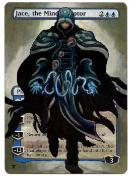 Jace, the Mind Sculptor painted Mtg alter by iplaythisgame