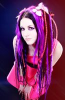 Pink Cybergoth by mysteria-violent