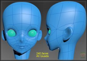 -Anime Head Topology Base- by ken1171