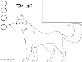 Free wolf template by Intaglio120