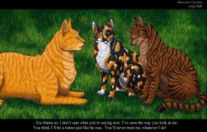 Fireheart, Tawnypaw and Bramblepaw by Vialir