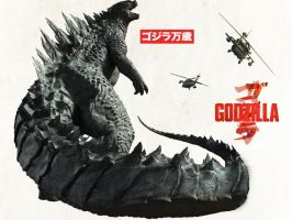 My Godzilla 2014 poster by Dinossword
