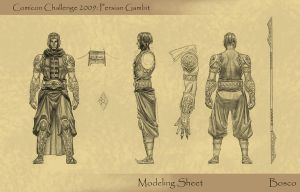 Persian Gambit 2: model sheet by boscopenciller
