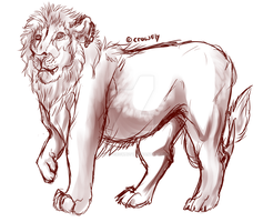 KingLionSKETCH AUCTION by GalaxyCrowButt