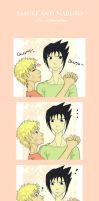 SasuNaru - Love at first GLOMP by LMP-TheClay
