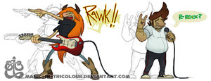 COMM - RAWK IT OUT by manic-in-tricolour