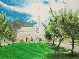 Mount Timpanogos, Utah LDS Temple 3 by Ridesfire
