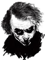 Joker The Dark Knight by EnriqueGiner