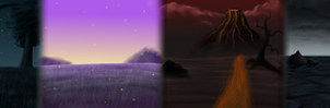 Biome panorama by Finchwing