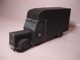 Holocaust Gas Van Paper Model by RocketmanTan