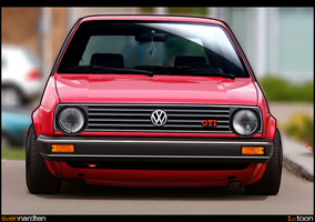 VW Golf Toon by svennardten-design