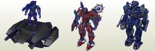 Transformers Battle Game Pack02 by PapercraftKing