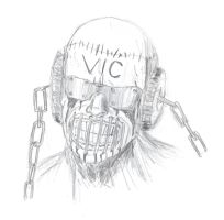 Vic Rattlehead Sketch by BJSparky