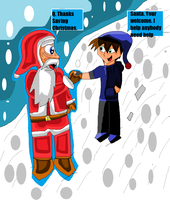 Q save Christmas by gladiatorcompany15