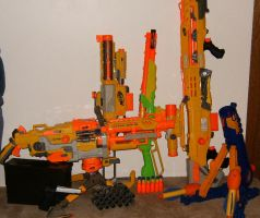 My Collection of Nerf Gun by hilliard