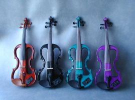 rainbow violins by violonsong