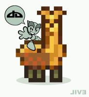 :Fella + Llama Sticker Design: by FalloutLuver13
