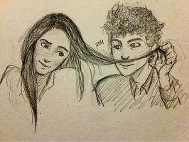 Bob Dylan and Joan Baez tumblr request by greengal14