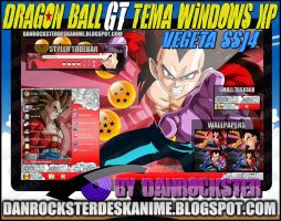 Vegeta SSJ4 Theme Windows XP by Danrockster