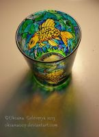 Gold fish  -on glass by Oksana007
