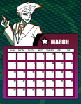 DtGR 2016 Calendar- March by Eleanorose123