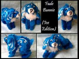 Fade Bunnie (Ice Edition) poseable art doll by WhisperingWoodCrafts
