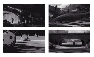 Composition sketches #2 by gerezon