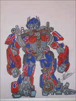 Optimus Prime caricature 2 by RyGuy52