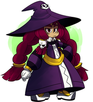 Young lady witch by Coonstito