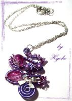 Purple pendant by Hyo-pon