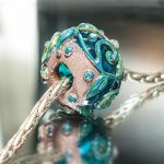 Glass hollow bead, plated with copper. by copperrein