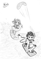 Commission: Kitesurf for the brave by Klaudia-Ayame