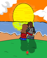 'contest 1' Sunset couple by luigi2cool