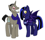 Commission: Autumn Galerina and Diamond Shadow by Trinityinyang