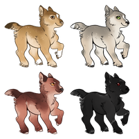 Ylva's puppies - Adoptables! by SilveringOak