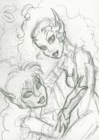 Ember and Leetah ATC : Sketch by alyssakay